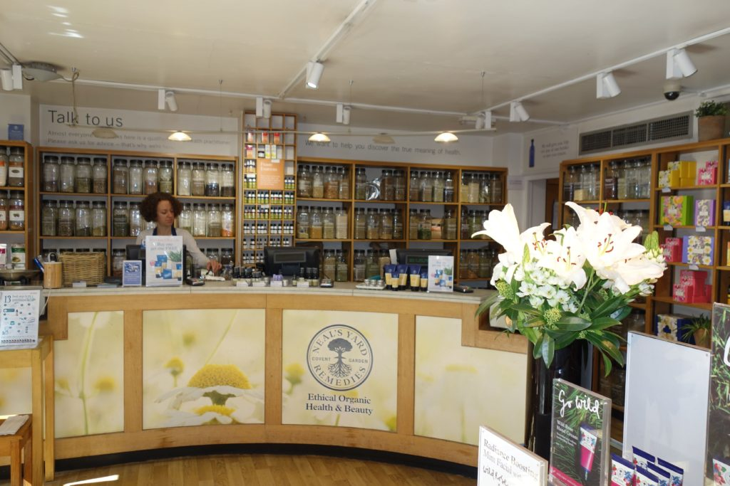 Inside Neal's Yard Remedies London