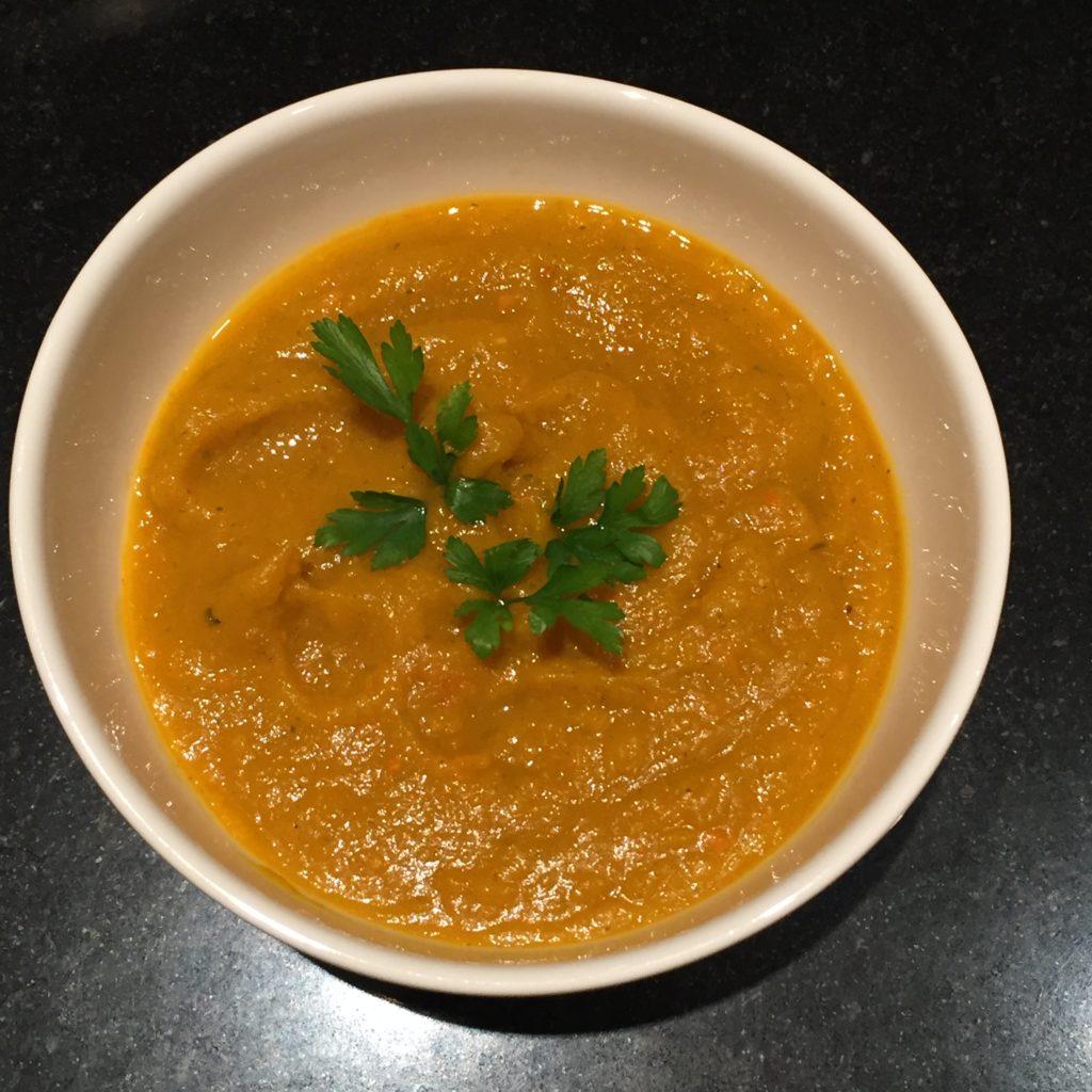 Pumpkin Carrot soup ready